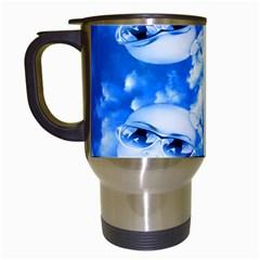 Skydivers Travel Mug (white) by icarusismartdesigns