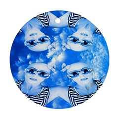 Skydivers Round Ornament (two Sides) by icarusismartdesigns