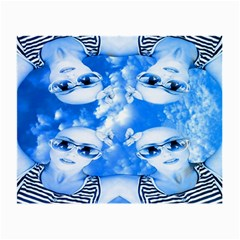 Skydivers Glasses Cloth (small, Two Sided) by icarusismartdesigns