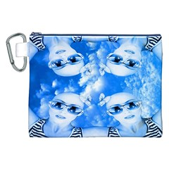Skydivers Canvas Cosmetic Bag (xxl) by icarusismartdesigns