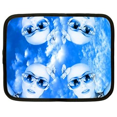 Skydivers Netbook Sleeve (large) by icarusismartdesigns