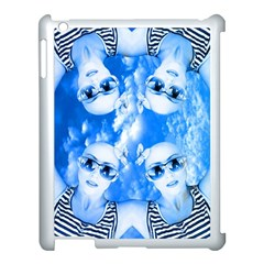 Skydivers Apple Ipad 3/4 Case (white) by icarusismartdesigns