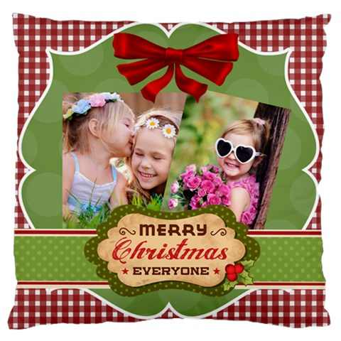 Xmas By Xmas   Large Cushion Case (one Side)   6v0w6ne01j2r   Www Artscow Com Front