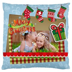 Xmas By Xmas   Large Flano Cushion Case (two Sides)   0sbjju6n5x9s   Www Artscow Com Front