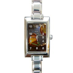 Follow Your Passion Rectangular Italian Charm Watch by lucia
