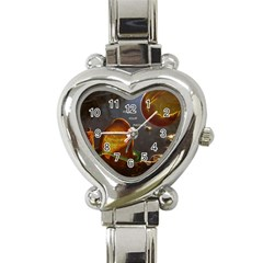 Follow Your Passion Heart Italian Charm Watch  by lucia