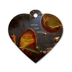 Follow Your Passion Dog Tag Heart (two Sided) by lucia