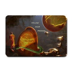 Follow Your Passion Small Door Mat by lucia