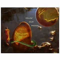 Follow Your Passion Canvas 11  X 14  (unframed) by lucia