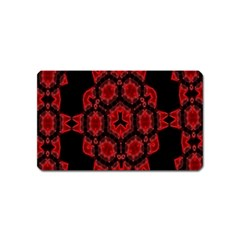 Red Alaun Crystal Mandala Magnet (name Card) by lucia