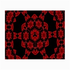 Red Alaun Crystal Mandala Glasses Cloth (small) by lucia