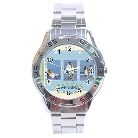 Wedding By Wedding   Stainless Steel Analogue Watch   O13i0k6jt2eh   Www Artscow Com Front