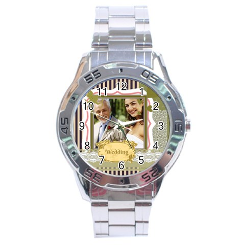 Wedding By Wedding   Stainless Steel Analogue Watch   Rhyntymklpws   Www Artscow Com Front