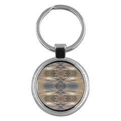 Wildlife Wild Animal Skin Art Brown Black Key Chain (round)