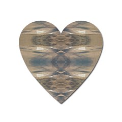 Wildlife Wild Animal Skin Art Brown Black Magnet (heart) by yoursparklingshop