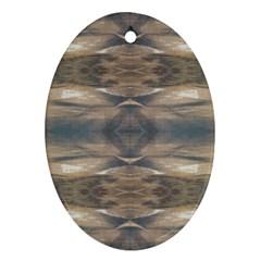 Wildlife Wild Animal Skin Art Brown Black Oval Ornament (two Sides)