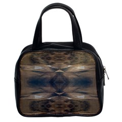 Wildlife Wild Animal Skin Art Brown Black Classic Handbag (two Sides)