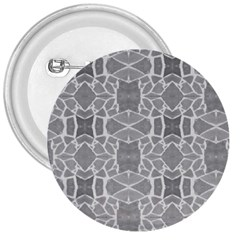 Grey White Tiles Geometry Stone Mosaic Pattern 3  Button by yoursparklingshop