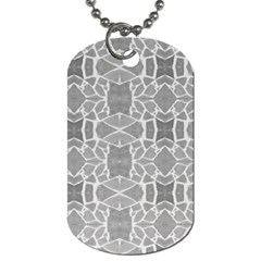 Grey White Tiles Geometry Stone Mosaic Pattern Dog Tag (one Sided) by yoursparklingshop