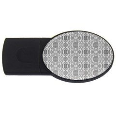 Grey White Tiles Geometry Stone Mosaic Pattern 2gb Usb Flash Drive (oval) by yoursparklingshop