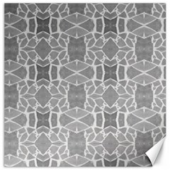 Grey White Tiles Geometry Stone Mosaic Pattern Canvas 12  X 12  (unframed) by yoursparklingshop