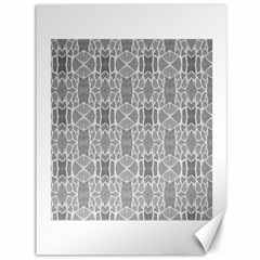 Grey White Tiles Geometry Stone Mosaic Pattern Canvas 36  X 48  (unframed) by yoursparklingshop