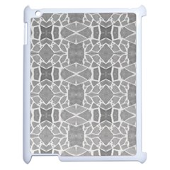 Grey White Tiles Geometry Stone Mosaic Pattern Apple Ipad 2 Case (white) by yoursparklingshop