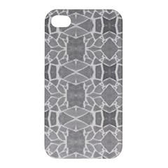 Grey White Tiles Geometry Stone Mosaic Pattern Apple Iphone 4/4s Hardshell Case by yoursparklingshop