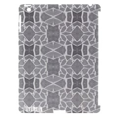 Grey White Tiles Geometry Stone Mosaic Pattern Apple Ipad 3/4 Hardshell Case (compatible With Smart Cover) by yoursparklingshop
