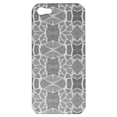 Grey White Tiles Geometry Stone Mosaic Pattern Apple Iphone 5 Hardshell Case by yoursparklingshop