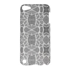 Grey White Tiles Geometry Stone Mosaic Pattern Apple Ipod Touch 5 Hardshell Case by yoursparklingshop
