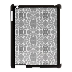 Grey White Tiles Geometry Stone Mosaic Pattern Apple Ipad 3/4 Case (black) by yoursparklingshop