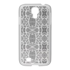 Grey White Tiles Geometry Stone Mosaic Pattern Samsung Galaxy S4 I9500/ I9505 Case (white) by yoursparklingshop