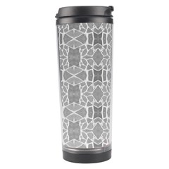 Grey White Tiles Geometry Stone Mosaic Pattern Travel Tumbler