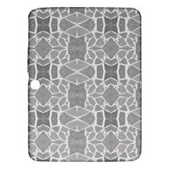 Grey White Tiles Geometry Stone Mosaic Pattern Samsung Galaxy Tab 3 (10 1 ) P5200 Hardshell Case  by yoursparklingshop