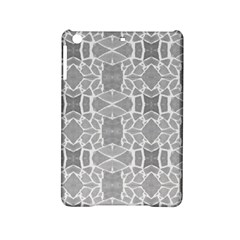 Grey White Tiles Geometry Stone Mosaic Pattern Apple Ipad Mini 2 Hardshell Case by yoursparklingshop