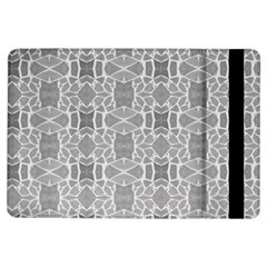 Grey White Tiles Geometry Stone Mosaic Pattern Apple Ipad Air Flip Case by yoursparklingshop
