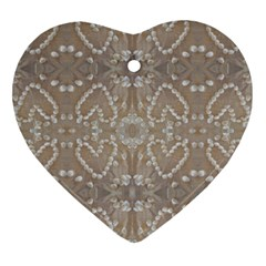 Love Hearts Beach Seashells Shells Sand  Heart Ornament