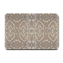 Love Hearts Beach Seashells Shells Sand  Small Door Mat
