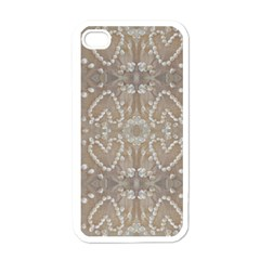 Love Hearts Beach Seashells Shells Sand  Apple Iphone 4 Case (white) by yoursparklingshop