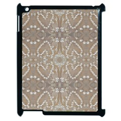 Love Hearts Beach Seashells Shells Sand  Apple Ipad 2 Case (black)