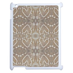 Love Hearts Beach Seashells Shells Sand  Apple Ipad 2 Case (white)