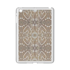 Love Hearts Beach Seashells Shells Sand  Apple Ipad Mini 2 Case (white) by yoursparklingshop