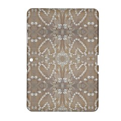 Love Hearts Beach Seashells Shells Sand  Samsung Galaxy Tab 2 (10 1 ) P5100 Hardshell Case  by yoursparklingshop