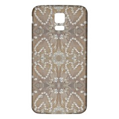Love Hearts Beach Seashells Shells Sand  Samsung Galaxy S5 Back Case (white) by yoursparklingshop