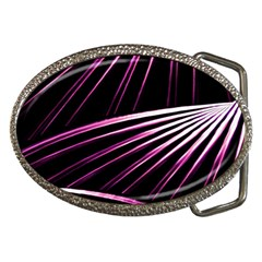 Bending Abstract Futuristic Print Belt Buckle (Oval) by dflcprintsclothing