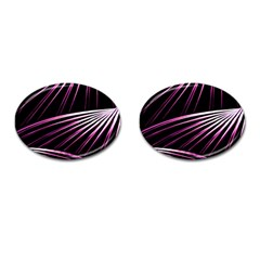 Bending Abstract Futuristic Print Cufflinks (oval) by dflcprintsclothing