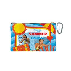 Summer By Summer Time    Canvas Cosmetic Bag (small)   Y7j2ork5k9ca   Www Artscow Com Back