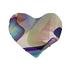 Abstract Standard 16  Premium Flano Heart Shape Cushion