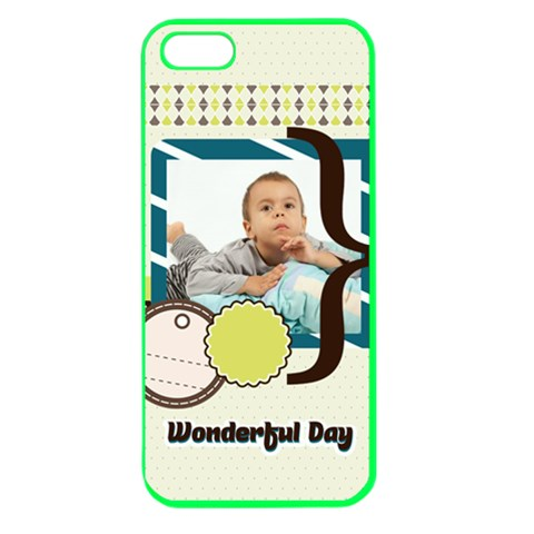 Kids By Kids   Apple Seamless Iphone 5 Case (color)   Ru7c7mt7j0fn   Www Artscow Com Front